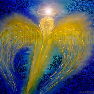 Archangel Michael, soft pastel by Eva Maria Hunt