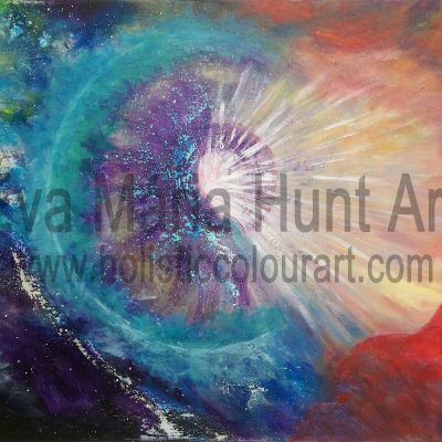 Heart Light, Acrylics by Eva Maria Hunt