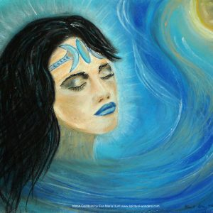 Moon Godess, soft pastel by Eva Maria Hunt