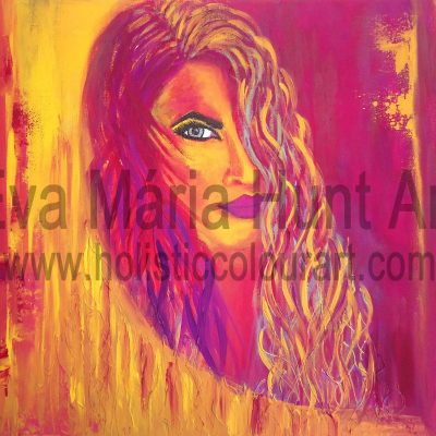 Window of the Soul, Acrylics by Eva Maria Hunt
