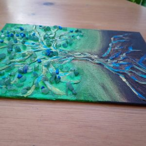 Aventurine Tree - mixed media by Eva Maria Hunt