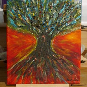Healing Tree  - mixed media by Eva Maria Hunt